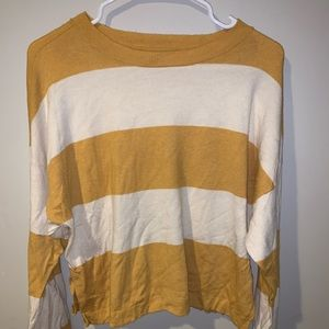 Yellow and white Aerie sweater